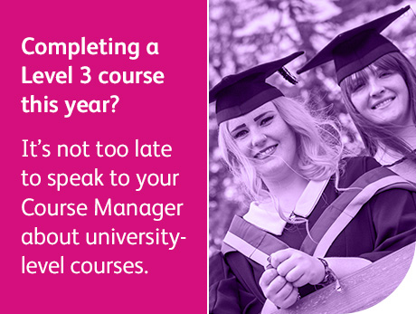 Completing a Level 3 course this year?